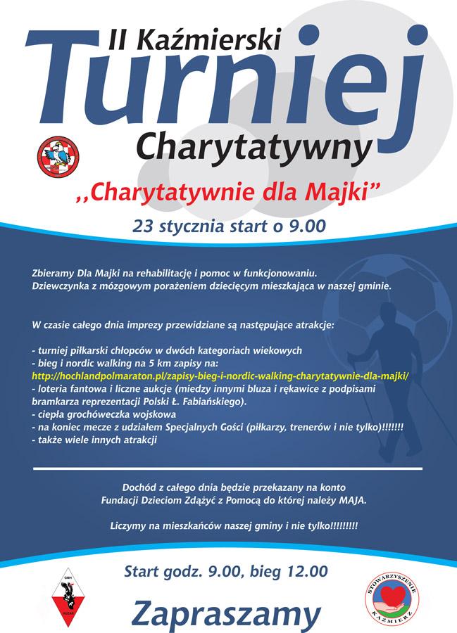 Turniej charytatywny bieg i marsz z kijkami dla Majki
