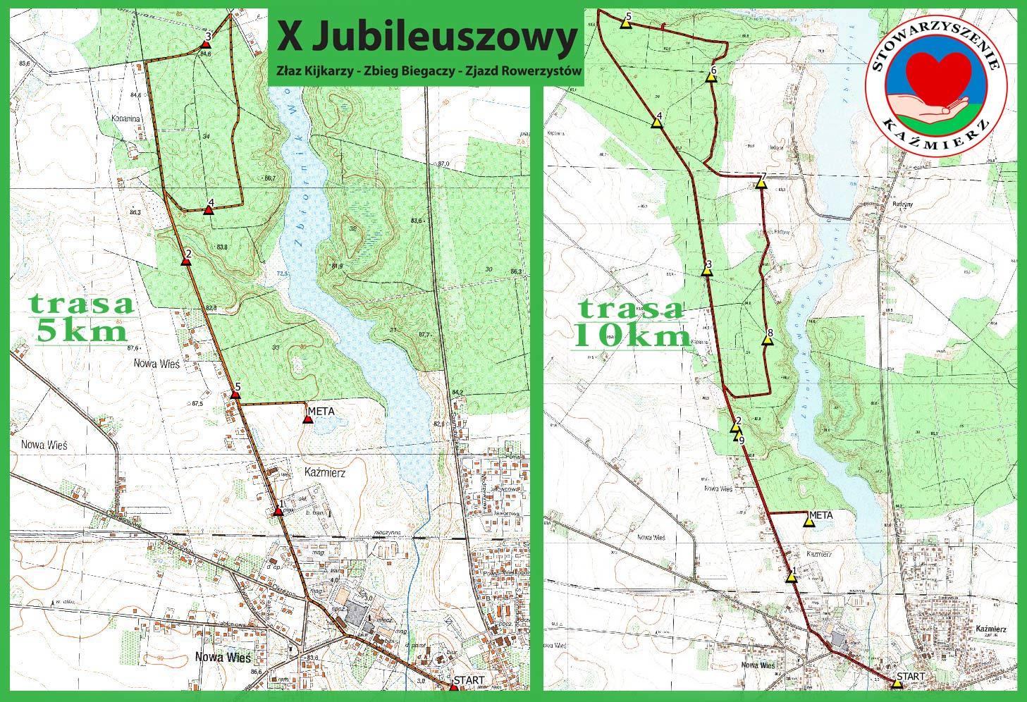 Stowarzyszenie KAŹMIERZ zaprasza na X Jubileuszowy Złaz Kijkarzy, Zjazd Kolarzy, Zbieg Biegaczy