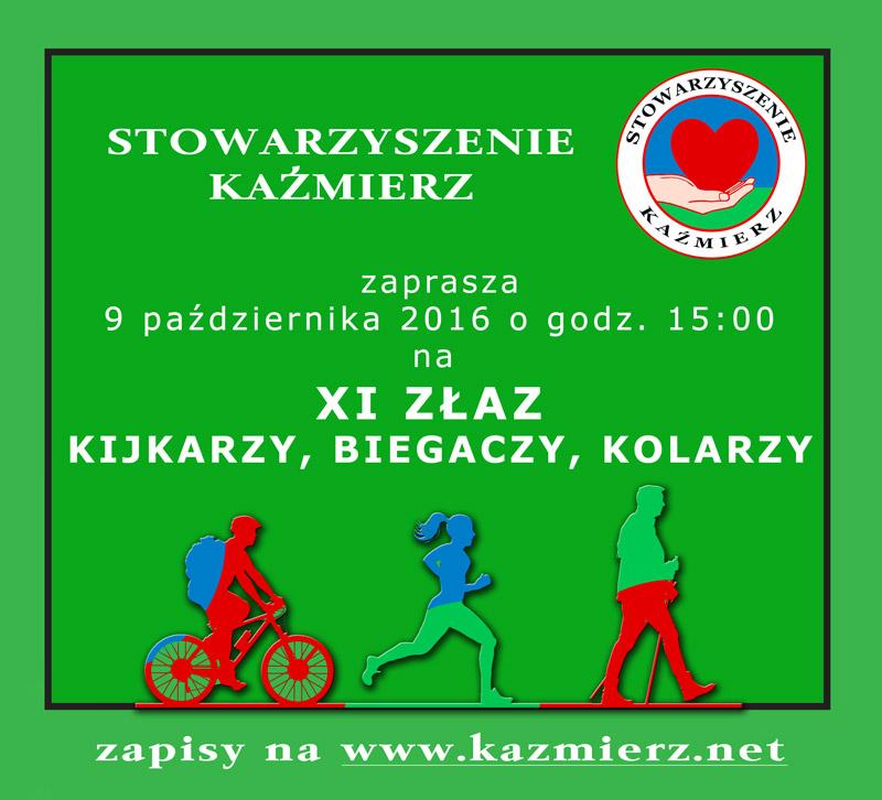 XI  Złaz Kijkarzy, Zjazd Kolarzy, Zbieg Biegaczy