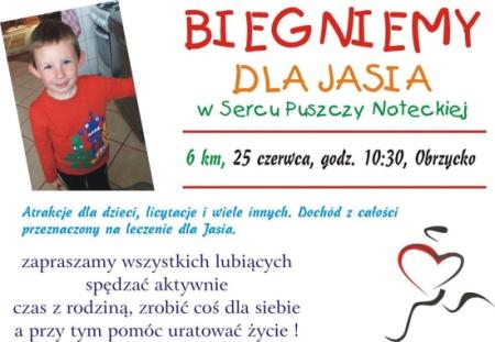 Biegniemy dla Jasia Bieńka w Sercu Puszczy Noteckiej – Obrzycko 2017