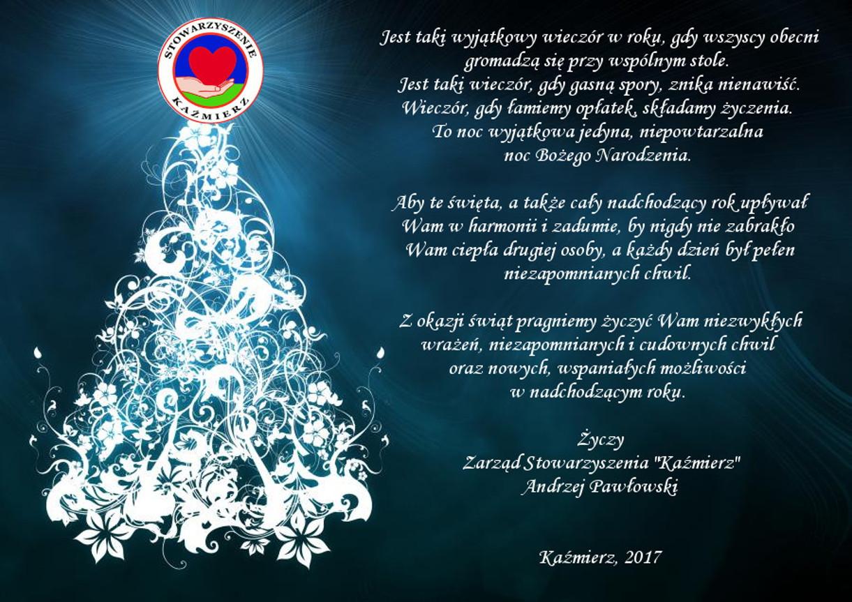 Boże Narodzenie 2017 Kaźmierz